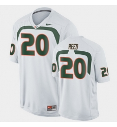 Men Miami Hurricanes Ed Reed Game White College Football Jersey