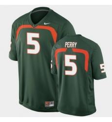 Men Miami Hurricanes N'Kosi Perry Game Green College Football Jersey