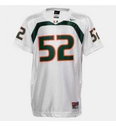 Men Miami Hurricanes Ray Lewis College Football White Jersey