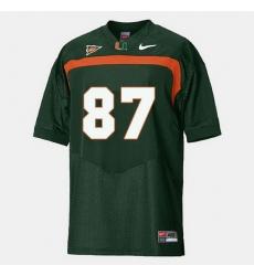 Men Miami Hurricanes Reggie Wayne College Football Green Jersey