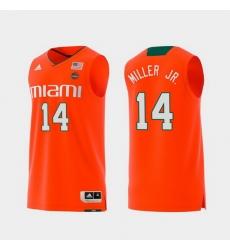 Men Miami Hurricanes Rodney Miller Jr. Orange Replica College Basketball Jersey