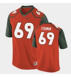 Men Miami Hurricanes Sam Fishman Replica Orange College Football Jersey