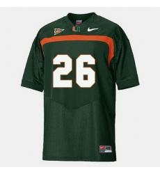 Men Miami Hurricanes Sean Taylor College Football Green Jersey