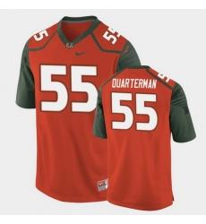 Men Miami Hurricanes Shaquille Quarterman Replica Orange College Football Jersey