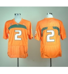 Miami Hurricanes #2 Willis McGahee Orange Embroidered NCAA Jerseys