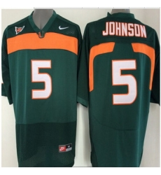 Miami Hurricanes Jersey NCAA jerseys #5 Johnson Black jersey