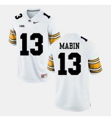 Greg Mabin White Iowa Hawkeyes Alumni Football Game Jersey