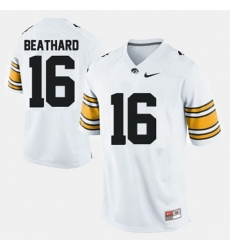 Iowa Hawkeyes C.J. Beathard College Football White Jersey