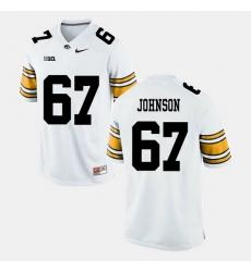 Jaleel Johnson White Iowa Hawkeyes Alumni Football Game Jersey