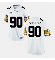 Louis Trinca Pasat White Iowa Hawkeyes Alumni Football Game Jersey