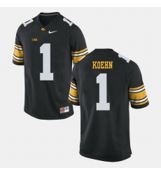 Marshall Koehn Black Iowa Hawkeyes Alumni Football Game Jersey