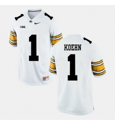 Marshall Koehn White Iowa Hawkeyes Alumni Football Game Jersey