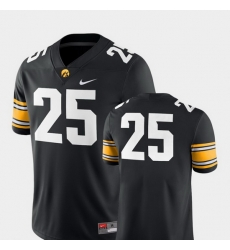 Men Iowa Hawkeyes 25 Black College Football 2018 Game Jersey