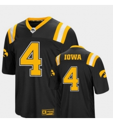 Men Iowa Hawkeyes 4 Black Foos Ball Football Colosseum Jersey