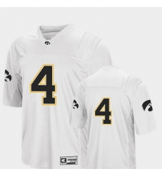 Men Iowa Hawkeyes 4 White College Football Colosseum Jersey
