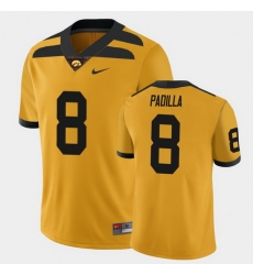 Men Iowa Hawkeyes Alex Padilla College Football Gold Alternate Game Jersey