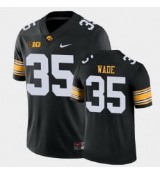 Men Iowa Hawkeyes Barrington Wade Game Black College Football Jersey