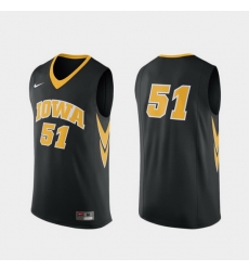 Men Iowa Hawkeyes Black Replica College Basketball Nike Jersey