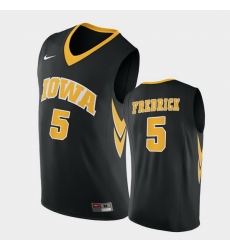 Men Iowa Hawkeyes C.J. Fredrick Replica Black College Basketball Jersey