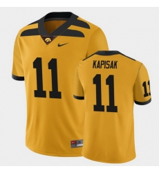 Men Iowa Hawkeyes Connor Kapisak College Football Gold Alternate Game Jersey