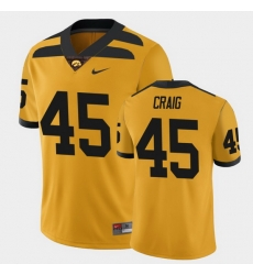 Men Iowa Hawkeyes Deontae Craig College Football Gold Alternate Game Jersey