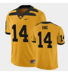 Men Iowa Hawkeyes Desmond King College Football Gold Alternate Game Jersey