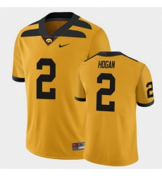 Men Iowa Hawkeyes Deuce Hogan College Football Gold Alternate Game Jersey