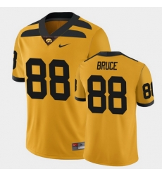 Men Iowa Hawkeyes Isaiah Bruce College Football Gold Alternate Game Jersey