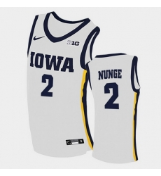 Men Iowa Hawkeyes Jack Nunge Home White College Basketball Jersey