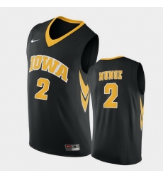 Men Iowa Hawkeyes Jack Nunge Replica Black College Basketball Jersey