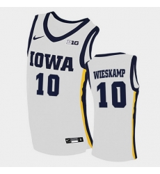 Men Iowa Hawkeyes Joe Wieskamp Home White College Basketball Jersey
