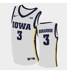Men Iowa Hawkeyes Jordan Bohannon Home White College Basketball Jersey