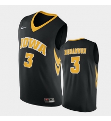 Men Iowa Hawkeyes Jordan Bohannon Replica Black College Basketball Jersey