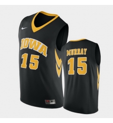 Men Iowa Hawkeyes Keegan Murray Replica Black College Basketball Jersey