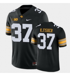 Men Iowa Hawkeyes Kyler Fisher Game Black College Football Jersey