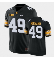 Men Iowa Hawkeyes Nick Niemann Game Black College Football Jersey
