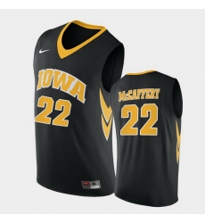 Men Iowa Hawkeyes Patrick Mccaffery Replica Black College Basketball Jersey