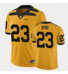 Men Iowa Hawkeyes Shadrick Byrd College Football Gold Alternate Game Jersey