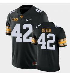 Men Iowa Hawkeyes Shaun Beyer Game Black College Football Jersey
