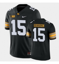 Men Iowa Hawkeyes Tyler Goodson Game Black College Football Jersey