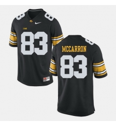 Men Riley Mccarron Black Iowa Hawkeyes Alumni Football Game Jersey