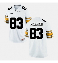 Men Riley Mccarron White Iowa Hawkeyes Alumni Football Game Jersey