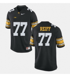 Men Riley Reiff Black Iowa Hawkeyes Alumni Football Game Jersey