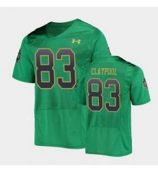 Men Notre Dame Fighting Irish Chase Claypool College Football Green Replica Jersey