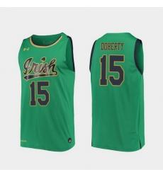 Men Notre Dame Fighting Irish Chris Doherty Replica Kelly Green College Basketball 2019 20 Jersey