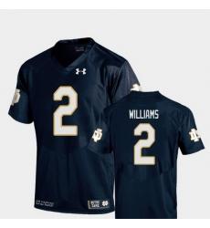 Men Notre Dame Fighting Irish Dexter Williams 2 Navy College Football Replica Jersey