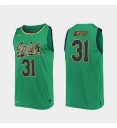 Men Notre Dame Fighting Irish Elijah Morgan Replica Kelly Green College Basketball 2019 20 Jersey