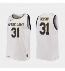 Men Notre Dame Fighting Irish Elijah Morgan Replica White College Basketball 2019 20 Jersey