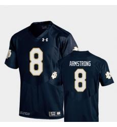 Men Notre Dame Fighting Irish Jafar Armstrong 8 Navy College Football Replica Jersey