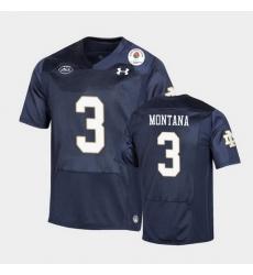 Men Notre Dame Fighting Irish Joe Montana 2021 Rose Bowl Navy College Football Jersey